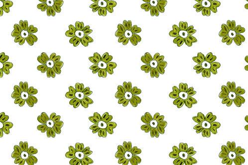 Delft Green mini Flower