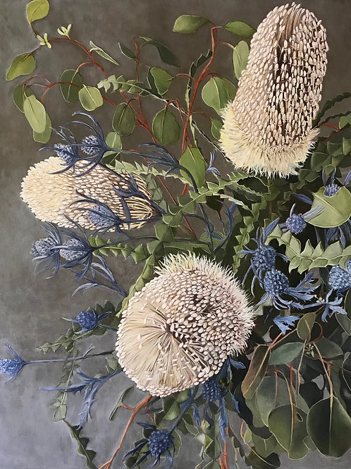 Banksia and Thistle Botanical Print