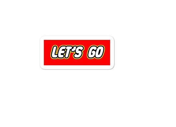 Let's Go [LEGO Parody Sticker]