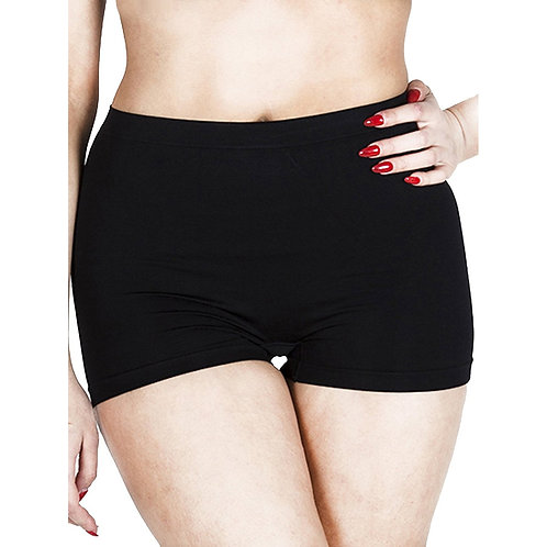 Seamless Plain High Waist Ladies Control Boxer 3309