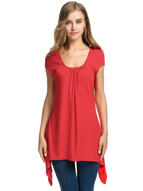 Stylish Short Sleeve Round Neck Shirt Top  9275