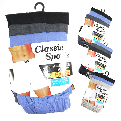 1 dozen Mens Classic Plain Label Boxer Short CS66