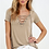 Thumbnail: Lace Up Tie Top V Neck Loose Casual Shirt 8196
