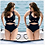 Thumbnail: Sexy Swim Wear Costume Bandage Plus Size 8087