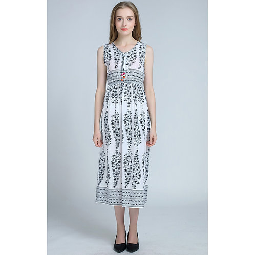 7 style Pattern Summer Sleeveless Long Dress 7071-style05
