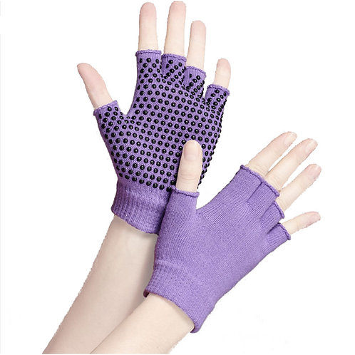Non-slip Grippy Yoga Cotton Fingerless Gloves 0025