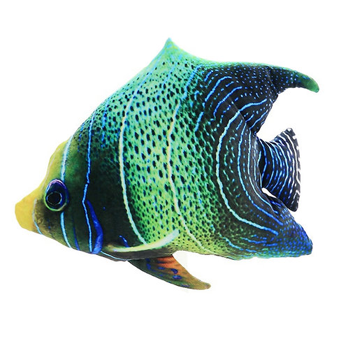 3D Fish Throw Pillows Cushions 3888 Fish With Stripes And Dots