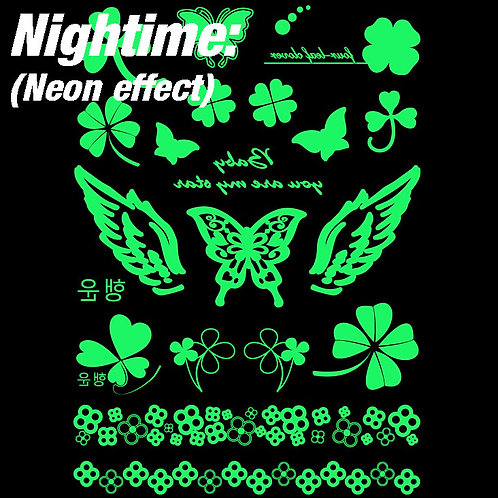 Neon Temporary Tattoo 5625