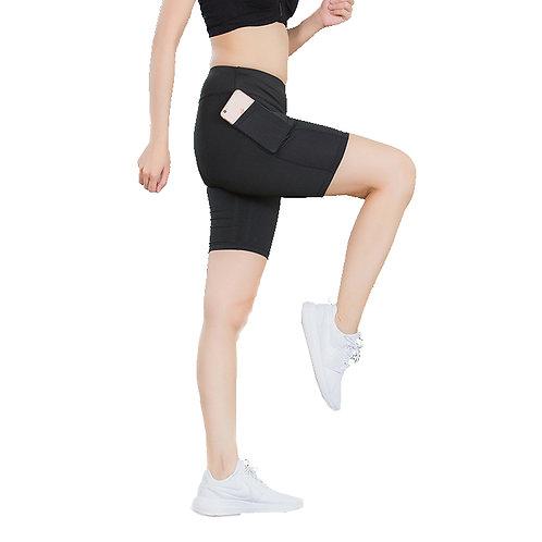 Plain Mid-Knee Sport Short with Side Pocket LG2046