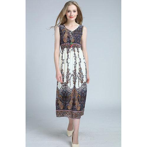 7 style Pattern Summer Sleeveless Long Dress 7071-style02