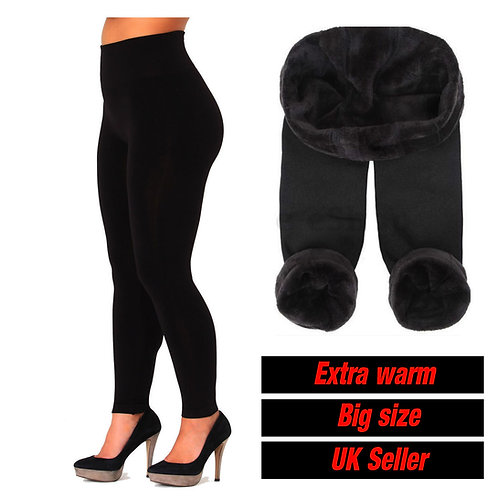 Ladies Thermal flu fleece legging extra warm big size 7309