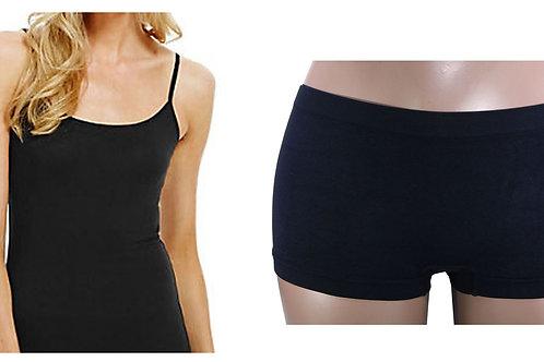 Women Camisole Vest Top and Boxer Set 2039