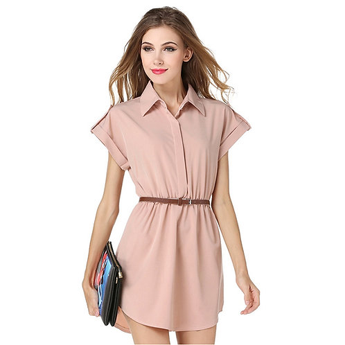 Stylish Mini Shirt Dress 1141