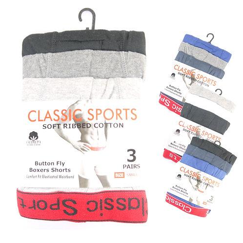 1 dozen Mens Classic Plain Boxer Short Red Waist Band CS84