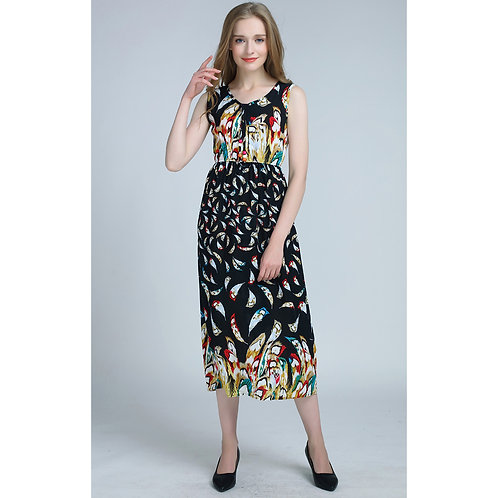 7 style Pattern Summer Sleeveless Long Dress 7071-style03