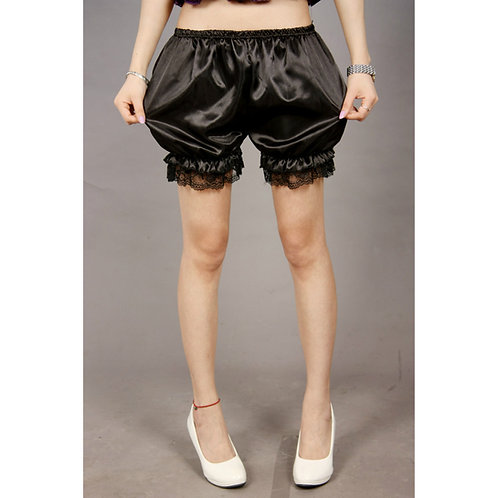 Lace Edge Silky Bubble Safety Shorts