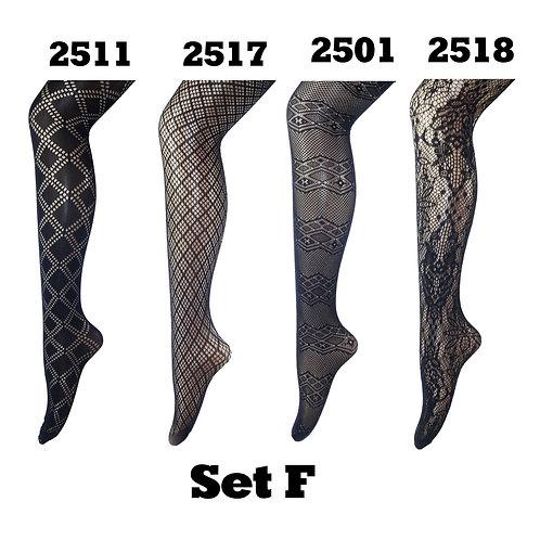 Pack of 4 Gift Set Fishnet Net Pattern Tight Set F