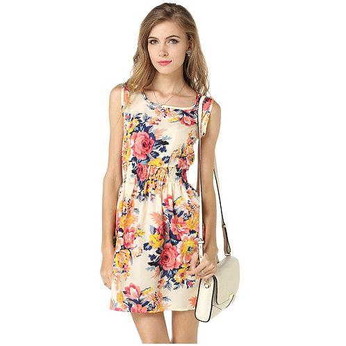 19 style Pattern Summer Sleeveless Dress 1138