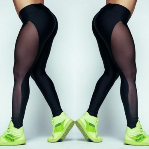 Black Running Fitness Yoga Leggings Athletic Trousers 8022