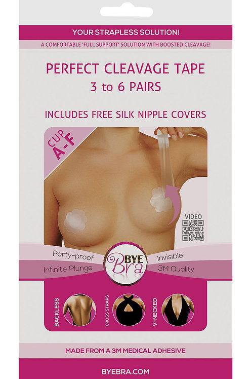 1 pcs Bye Bra Perfect Cleavage Breast Tape Bust Lift Invisible Enhancer