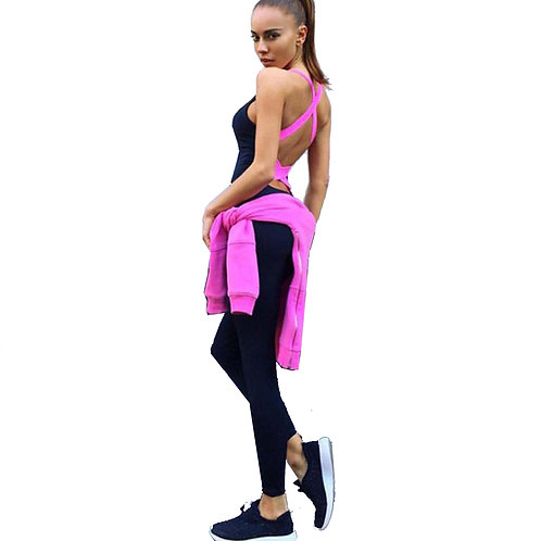 Yoga Running Fitness Leggings  Jumpsuit Athletic Clothe 3071