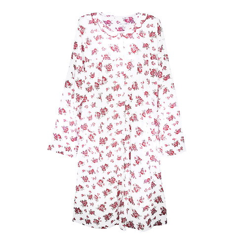 FLORAL NIGHTY NIGHTDRESS LONG SLEEVE 3 COLOURS PLUS SIZE 0191