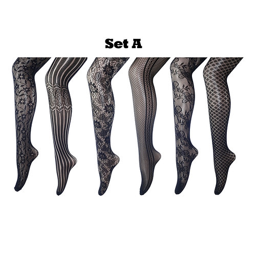 Multi-pack Gift Set Fishnet Net Pattern Tight Set A