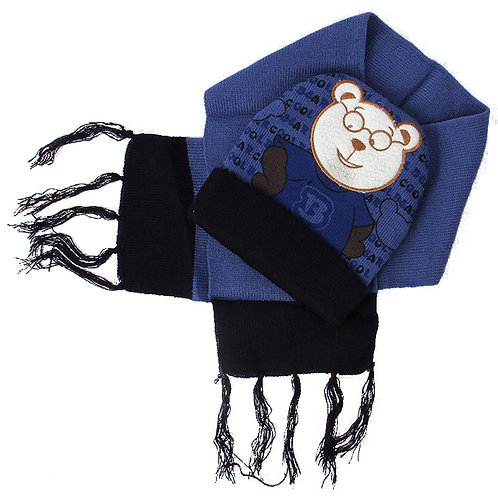 1 dozen Kids Boys Bear Hat and Scarf Set 1306
