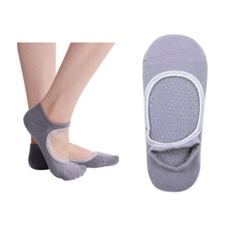 Yoga Nonslip Open Front Cotton Socks 0023
