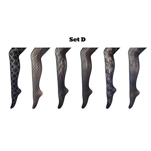 Multi-pack Gift Set Fishnet Net Pattern Tight Set D