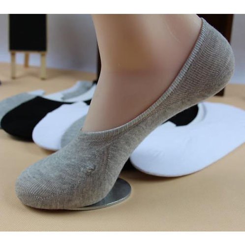 6 pair INVISIBLE GIRLS FOOTSIES TRAINER SHOE SOCKS with silicon