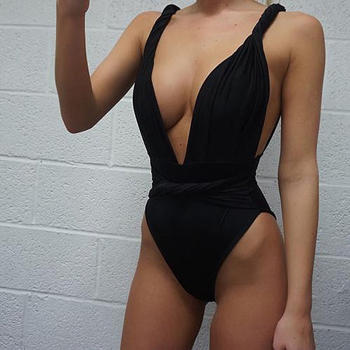 Sexy Plunging High Waisted One Pieces  8046