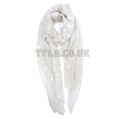 Embossed Print Spring/Summer Scarf Wrap Little foral