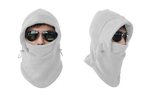 Unisex Fleece Thermal Balaclava Sports Light Grey