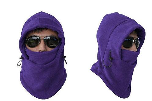 Unisex Fleece Thermal Balaclava Sports Purple