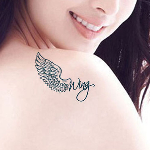 Feather Wings Temporary Tattoo Sticker 5624