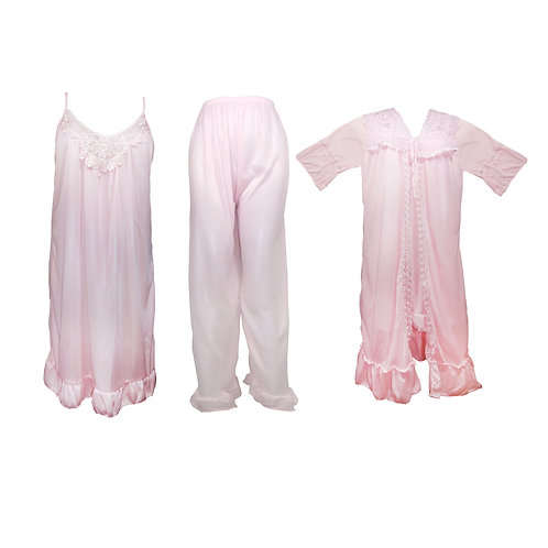 1 dozen 3 PIECES LADIES PYJAMA SET 2062