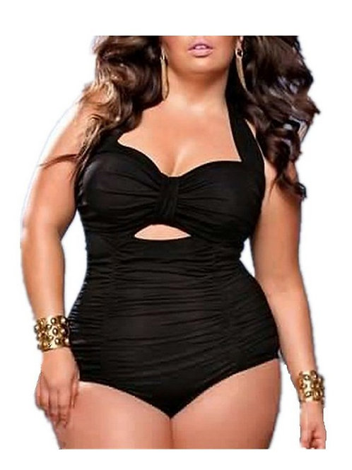 Sexy One Piece Halter-tie Swimsuit Monokini Plus Size UK 14-18 17008