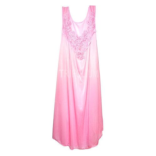 LADIES NIGHT DRESS WITH LACE TRIM 150