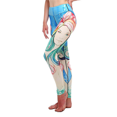 Yoga Running Fitness Fashion Quality Digital Print Beauty Pattern Leggings 2008