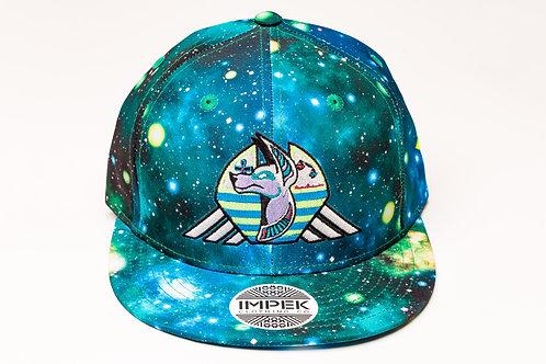 Cosmic Guardian Snap Back Hat -Galaxy AOP BluGrn