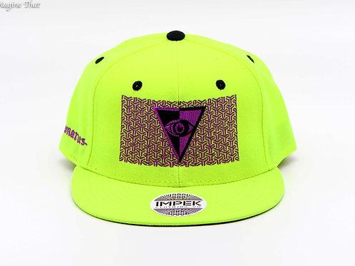 Visionaries x IMPEK 3rd Eye Snapback -Neon Yellow / Violet