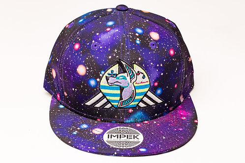 Cosmic Guardian Snap Back Hat -Galaxy AOP Purp