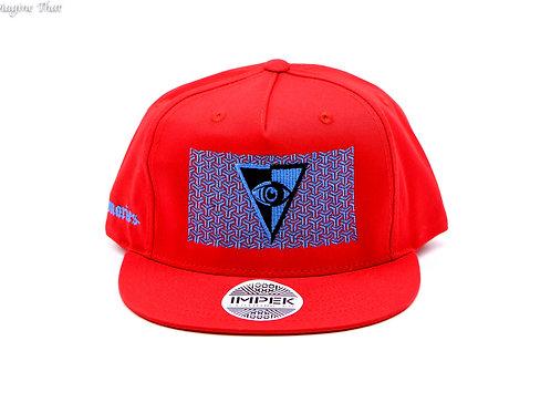 Visionaries x IMPEK 3rd Eye Snap Back Hat Red & Blue