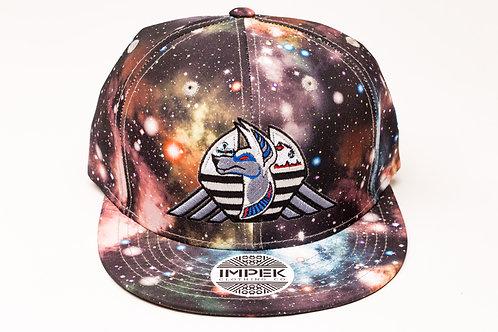 Cosmic Guardian Snap Back Hat -Galaxy AOP Smoke