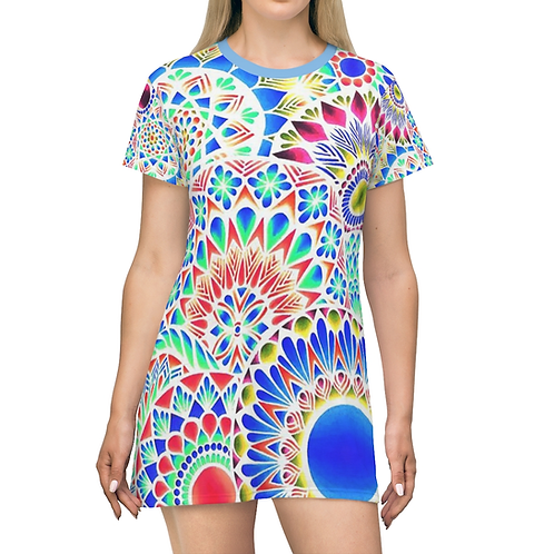 Celestial Expansion Tee Dress