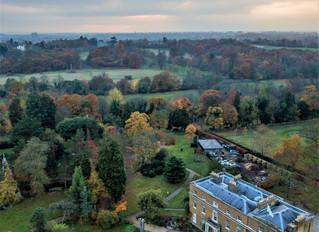 Aerial Views of Myddelton House Gardens