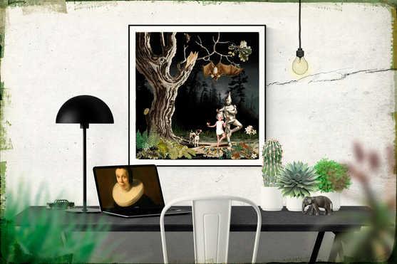 'Tableau LIV' (58 x 56 cm)