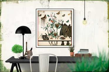 'Tableau LXXV' (58 x 56 cm)