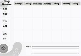 Holiday Study Planner Printable